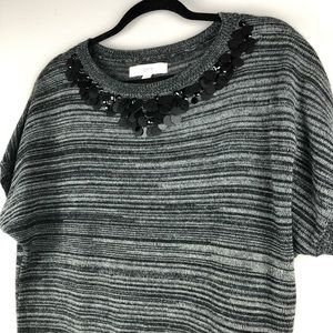 LOFT Space Dye Knit Sweater with Beads - Size M
